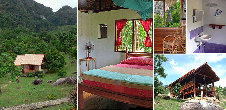 Single Bungalow Accommodations at Phanom Bencha Mountain Resort Krabi